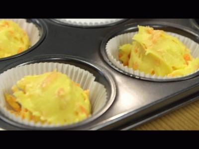 muffins alle carote: Distribuite l'impasto negli stampini