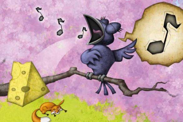 La volpe e il corvo favole di Fedro