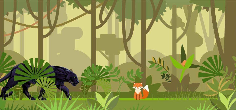 Favole di Esopo la volpe e la Pantera